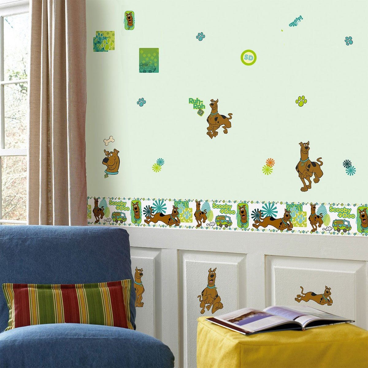 Scooby Doo Bedroom Accessories Scooby Doo Wall Stickers Decals 35 Wall Stickers Wall Borders