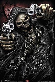 Amazon com: Pyramid America Spiral Game Over Grim Reaper Poster Art