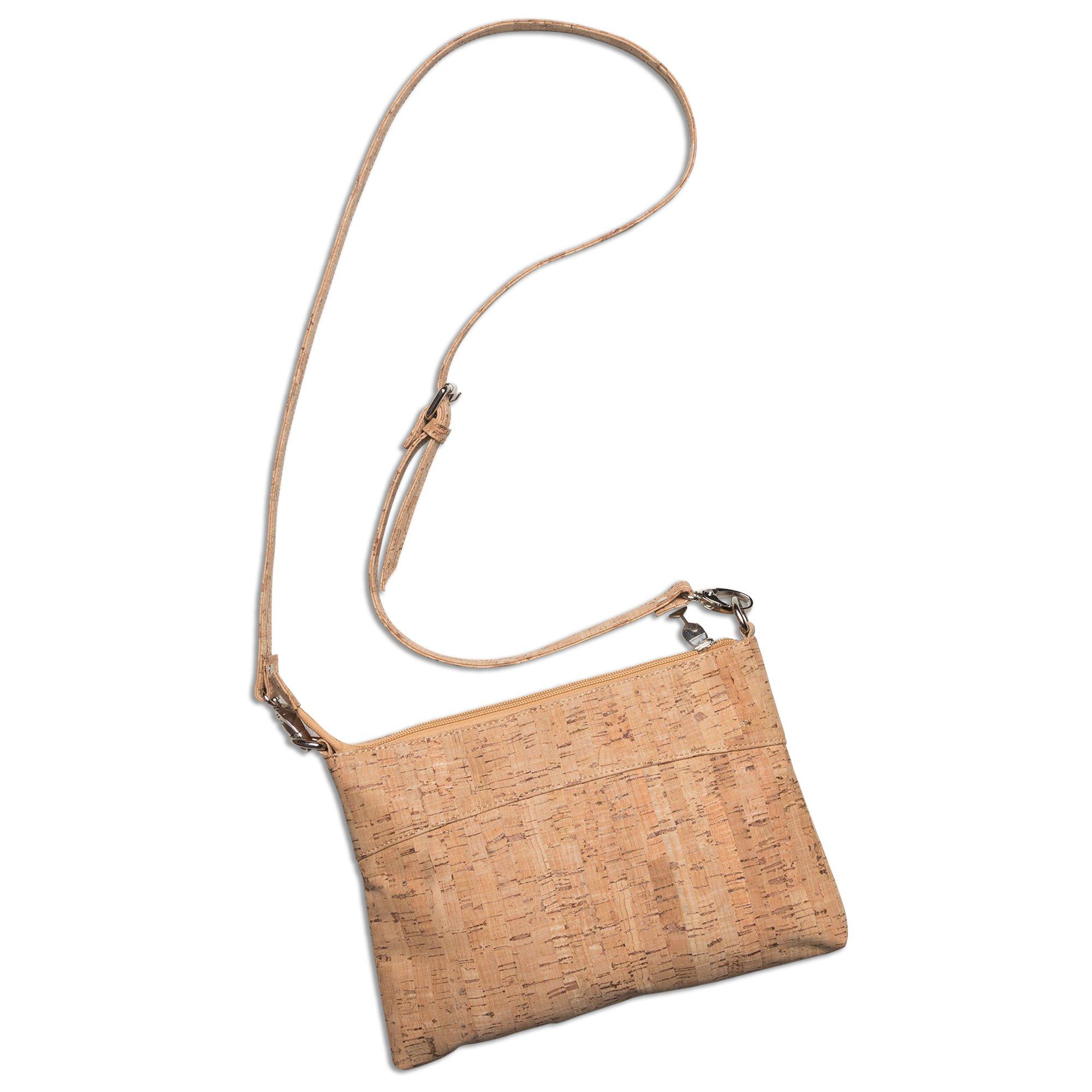 Cork Eco-friendly Cross Body Women Clutch Shoulder Hand Bags Adjustable Straps-Sturdy Ladies Evening Purse by Chris's Stuff