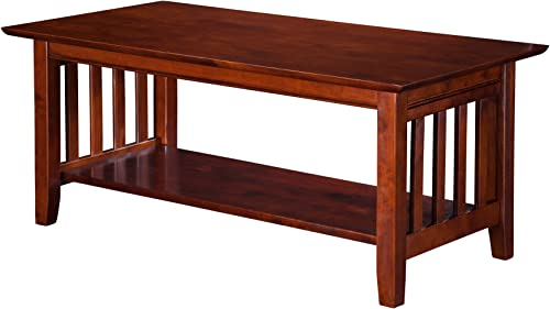 Walker Edison Furniture Company Rustic Modern Farmhouse Metal and Wood Rectangle Accent Coffee Table Living Room Ottoman Storage Shelf, White Oak