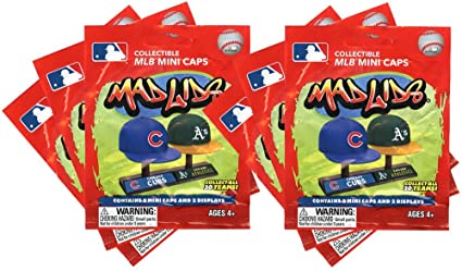 f8f9e9134a71a Image Unavailable. Image not available for. Color  Party Animal Mad Lids  MLB Mini Baseball Caps Blind Bags Gift Set Party Bundle ...