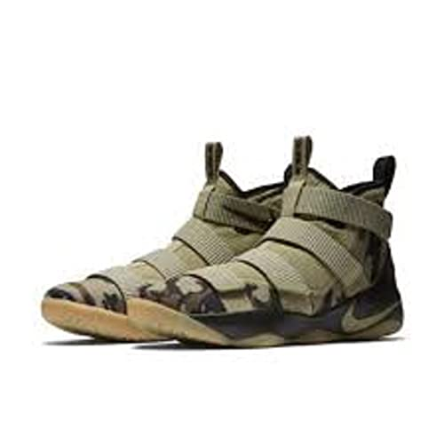 ad470b869e59 Nike Lebron Soldier Xi Size 11.5 Mens Basketball Neutral Olive Neutral  Olive-Sequoia Shoes  Buy Online at Low Prices in India - Amazon.in