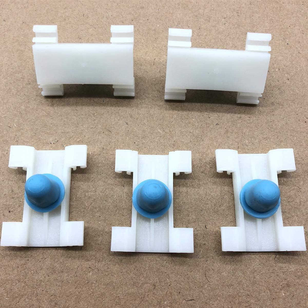GOFORJUMP 50PCS D285 Auto Fastener Car Door Guard Plate Fastener Interior Clip Fijo de pl/ástico para B//MW E38 Series 728//740//750