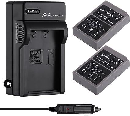 LCD cargador para olympus pen e-pl5//e-pl7//bls-5 bls50 2x premium batería