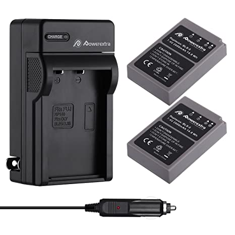 Amazon.com: Powerextra Batería y Cargador para Olympus BLS-5 ...