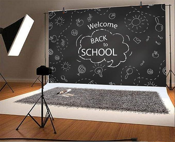 Amazon com : LFEEY 9x6ft Blackboard Drawing Welcome Back to