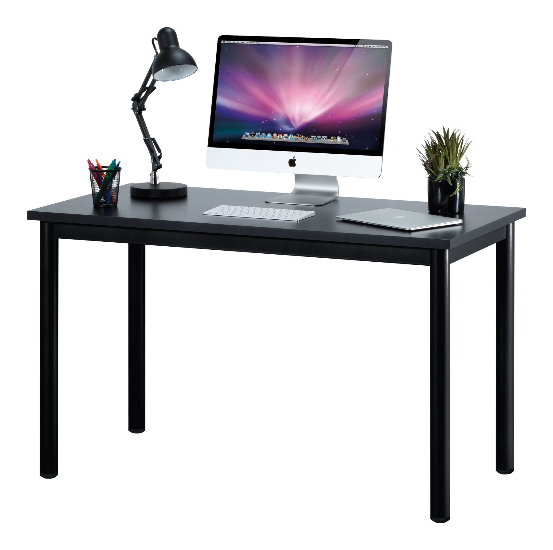 Fineboard 47'' Home Office Computer Desk Writing Table, Black