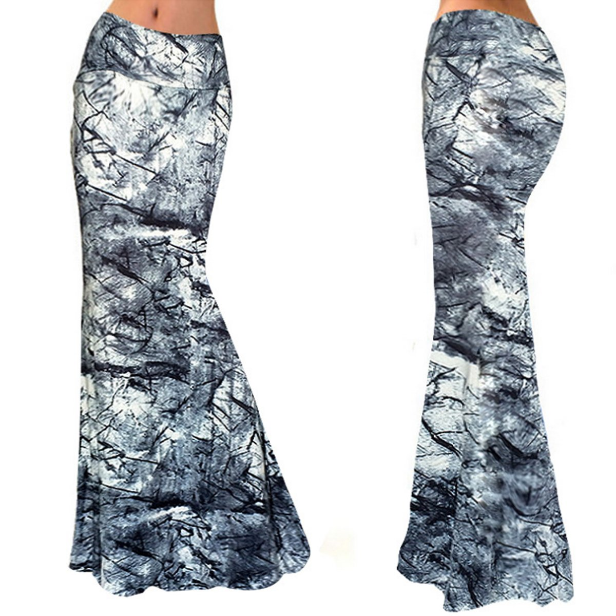Aisa Womens Multicolored Printed High Waist Maxi Skirt New Fold Over Beach Long Skirt Dress Size Large by Aisa (Image #7)
