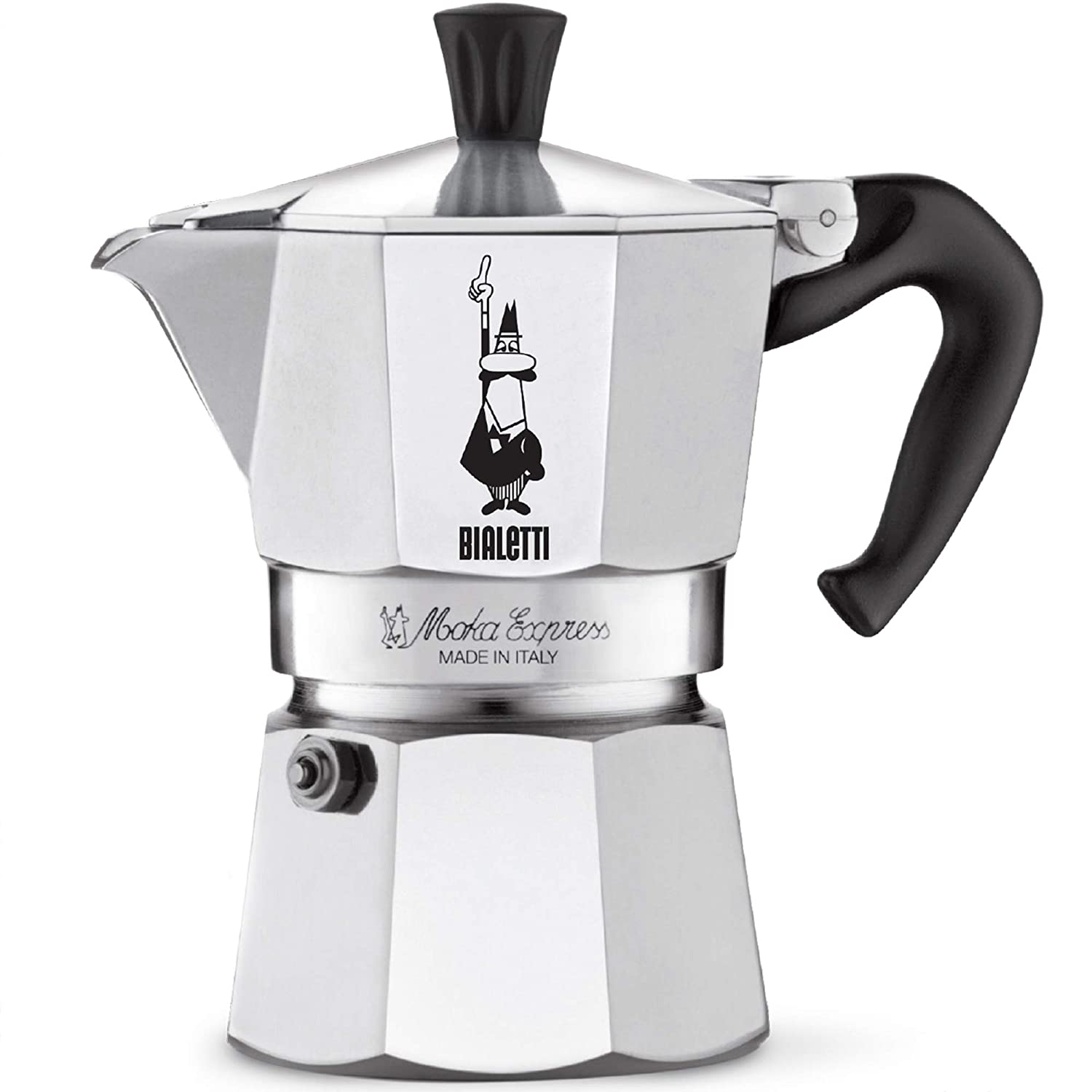 The With Express Ounces Safety Valve – Stovetop Maker Brews Moka 4 Bialetti Cup Original Coffee 4 3 vNnm08w