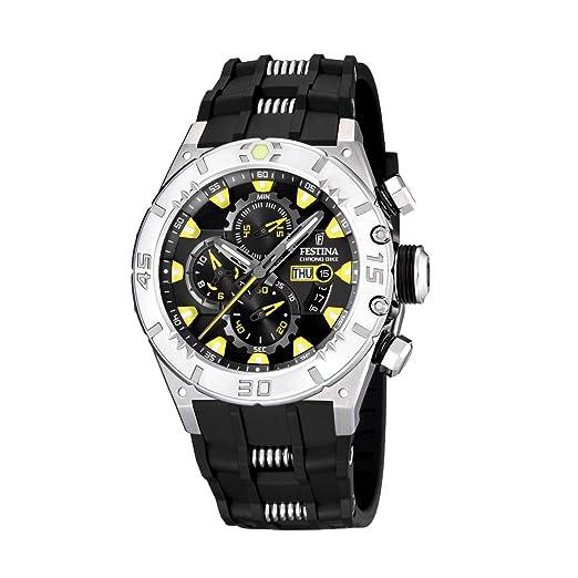 FESTINA F16528/2 - Reloj de Caballero de Cuarzo, Correa de Caucho Color Negro