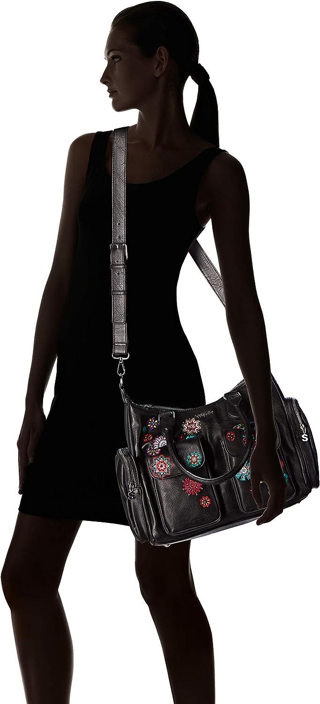 Desigual Bag Rep Nanit London, Sac à l'épaule Femme, 15.5x25.5x32 cm (B x H x T) Noir (Negro).