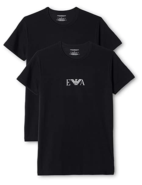 03a4758cbc165 Emporio Armani Stretch BI-Pack Crew Neck T-shirt