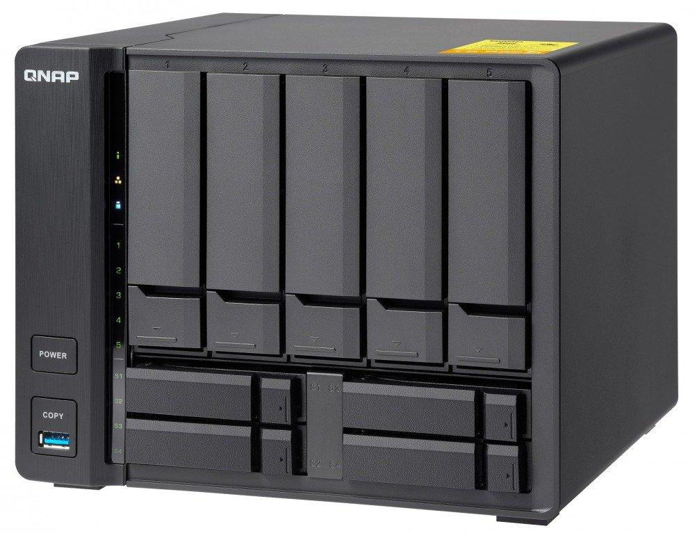 QNAP TS-932X-2G-US 5 (+4) Bay 64-bit NAS with Hardware Encryption, Quad Core 1.7GHz, 2GB RAM, 2 x 10GbE(SFP+), 2 x 1GbE by QNAP