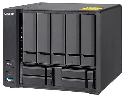 QNAP TS-932X-2G-US 5 (+4) Bay 64-bit NAS with Hardware Encryption, Quad  Core 1 7GHz, 2GB RAM, 2 x 10GbE(SFP+), 2 x 1GbE