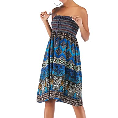 Amazon.com: OPTIMIS Women Casual Beach Boho Floral Printed ...