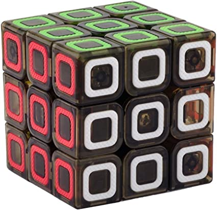 Vibgyor Vibes Magic Rubik Cube 3X3 Stickerless Cube Puzzle (Train Your Brain, Black)