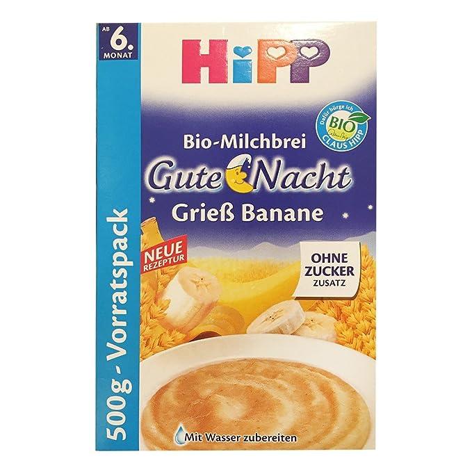 Hipp gachas de buenas noches 500 g de sémola de plátano: Amazon.es ...