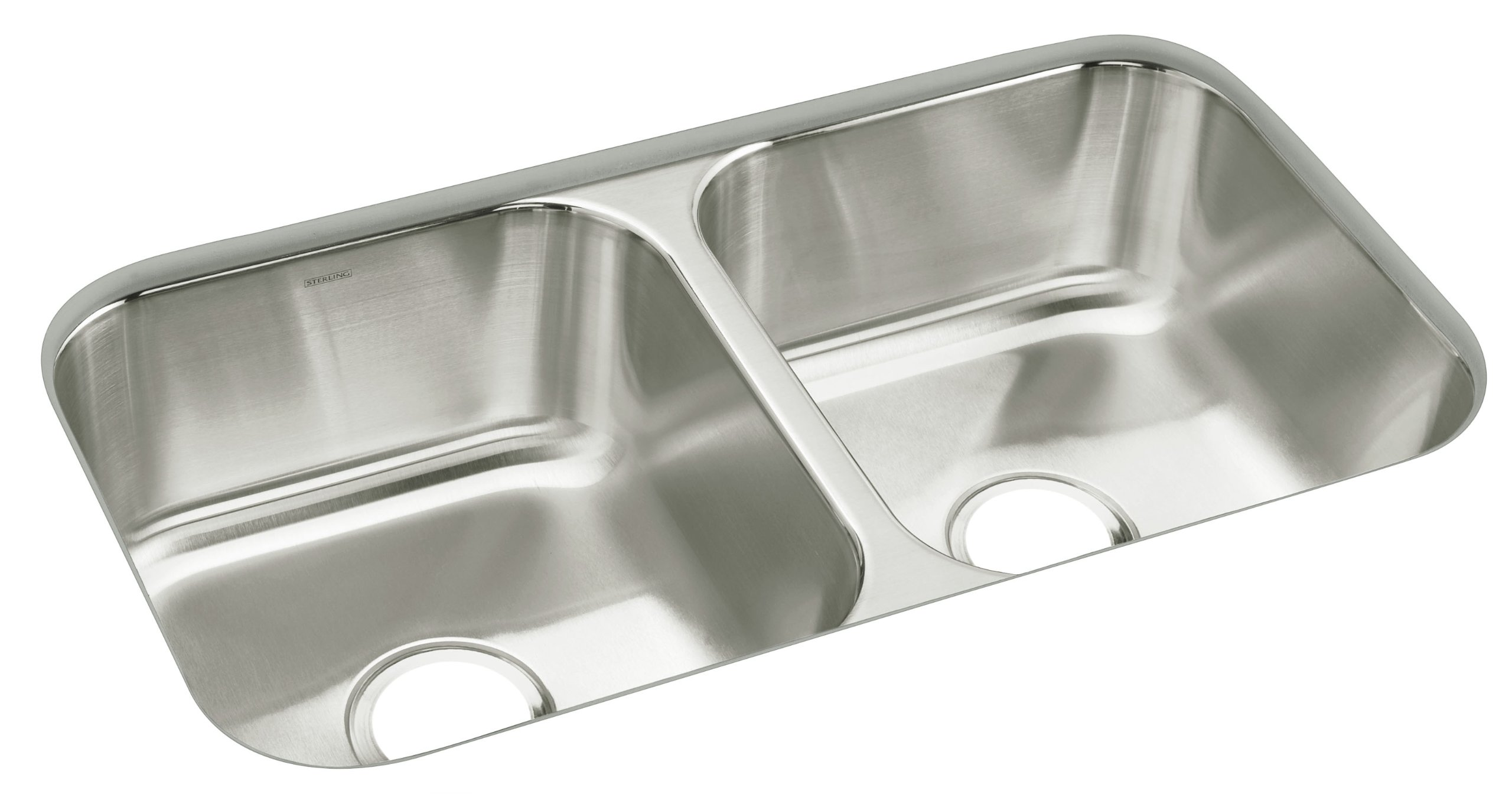 STERLING 11444-NA McAllister 32-inch by 18-inch Under-mount Double Equal Bowl Kitchen Sink, Stainless Steel