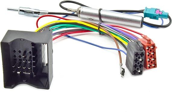 Opel Radio Iso Stecker Adapter Quadlock Fakra Din Antenne Phantomeinspeisung 12v Elektronik