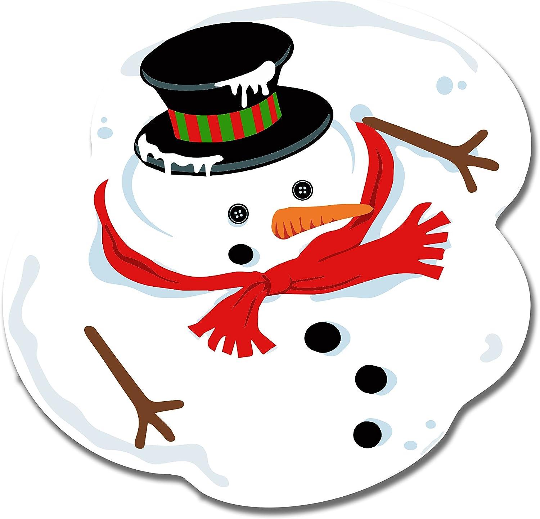 Amazon.com: ArtsyCanvas Melted Snowman - Christmas Floor Decorations -  24x24 Peel'N'Stick Wall Art: Posters & Prints