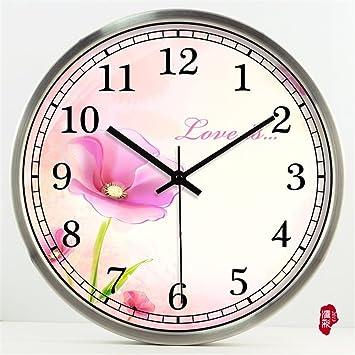 AIZIJI País Creativa el Estilo de Las Habitaciones están Decoradas salón Reloj de Pared Reloj de Tiempo Arte cuelgan el Cuadro Mute,35cm Relojes: Amazon.es: ...