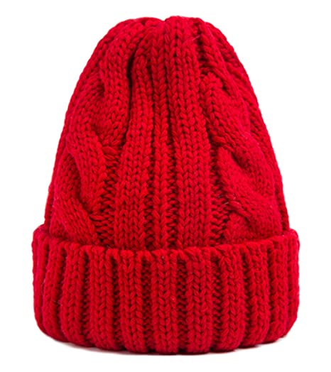 Spikerking Womens New Winter Hats Knitted Twist Cap Thick Beanie Hat ... 7a91c56aa6f