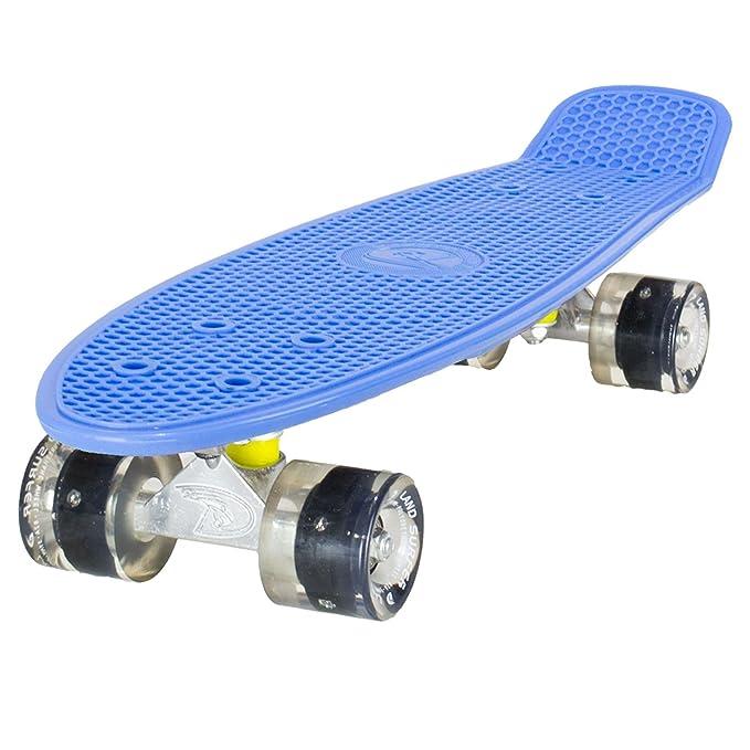 25 opinioni per Land Surfer® Skateboard Cruiser Retro Completo 56cm con tavola Blu- Cuscinetti