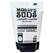 Molly's Suds Unscented Laundry Detergent Powder, 120 Loads, Natural Laundry Soap for Sensitive Skin