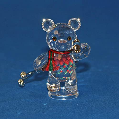 Authentic Swarovski Crystal Figurine Kris Bear with Skis Collectible No.234710 Retired Made in Austria