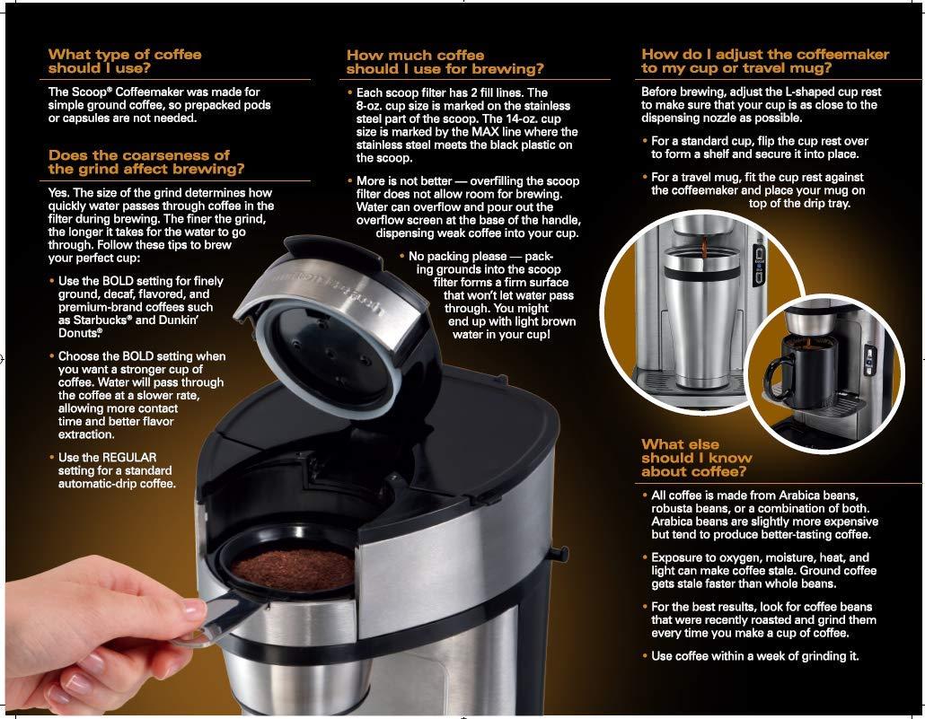 Buy Hamilton Beach 49981a Single Serve Scoop Coffee Maker Online At