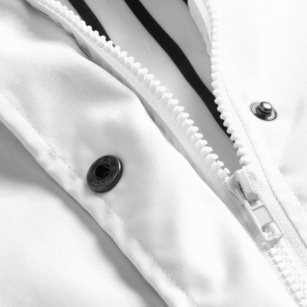 Veste de Pluie Solide Femme Imperméable à Capuche imperméable Outdoor Plus Blanc 5