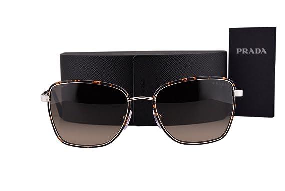 12113395388e Prada PR52SS Cinema Sunglasses Dark Havana Silver w Light Brown Gradient  Lens 2AU3D0 SPR 52S  Amazon.co.uk  Clothing