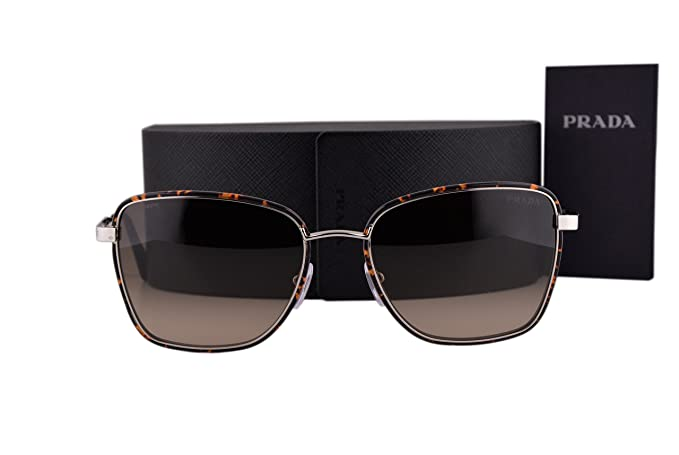 adf62777b33ae Prada PR52SS Cinema Sunglasses Dark Havana Silver w Light Brown ...