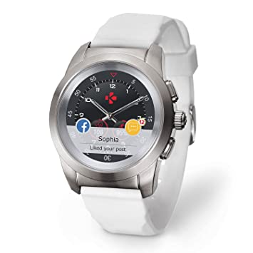 MyKronoz ZeTime Original Reloj Inteligente híbrido con Agujas mecánicas  Sobre una Pantalla a Color táctil – 5be039643341