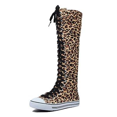 d5c0fe8f8b4 West Blvd Sneaker Boots Leopard Canvas