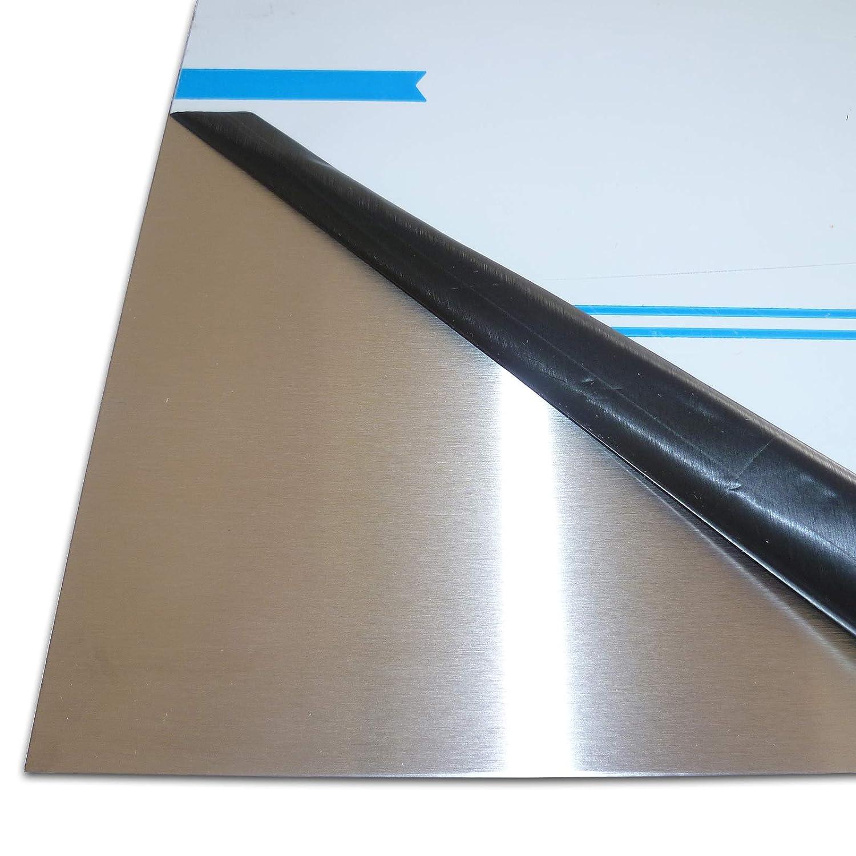 L/änge 1000 mm Abmessungen 80 x 80 x 2 mm Edelstahl Rohr Quadrat//Vierkant Oberfl/äche geschliffen FRACHTFREI V2A Korn 240