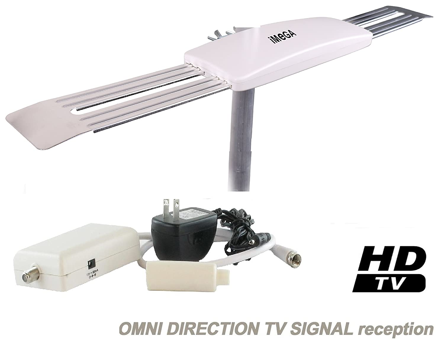 iMEGA HD-9008 OMNI-TYPE DIRECTIONAL DIGITAL HD TV UHF OUTDOOR ANTENNA , Suitable for Homes, RV, Boats, Campers, Trucks