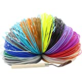 Synkia 3D Pen Filament Refills - 1.75mm ABS 320 Linear Feet (20 foot each) Total 16 Different colors fun pack 2 Glow Colors & Spatula Included