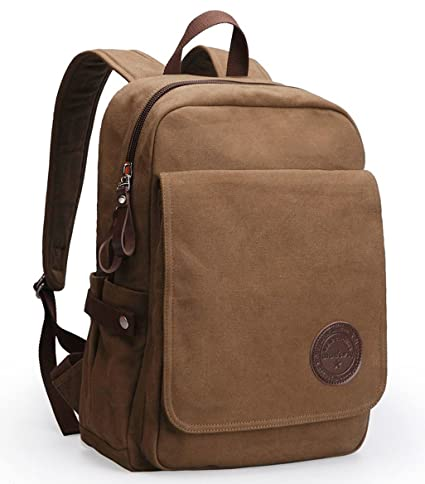 34667e68b966 Image Unavailable. Image not available for. Color  Canvas Laptop Backpack  Shoulder Bag ...