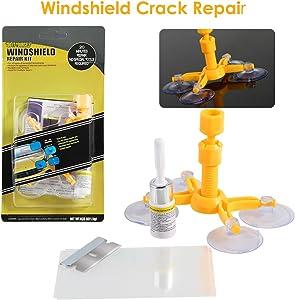 Dealpeak DIY Car Windshield Repair Kit Windshield Crack Chip Repair Tools Quick Fix DIY Auto Window Glass Scratch Repair Kits