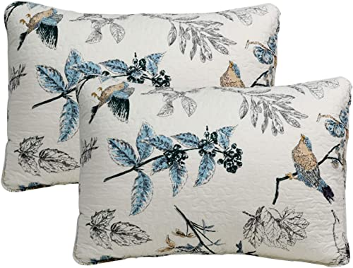 Brandream 100 Cotton Quilted Pillow Shams 2-Piece Standard Size American Country Pillow Shams Bedroom Decor