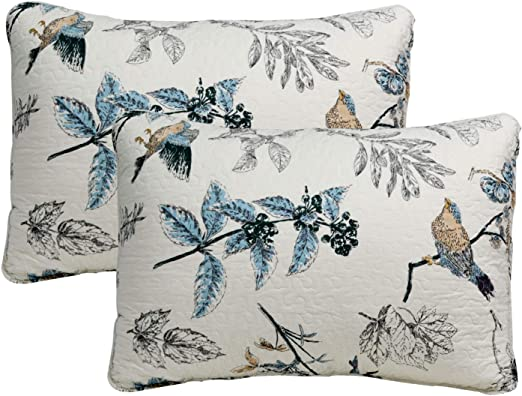 Brandream 100/% Cotton Pillow Shams 2-Piece American Country Style Shams Bedroom Decor