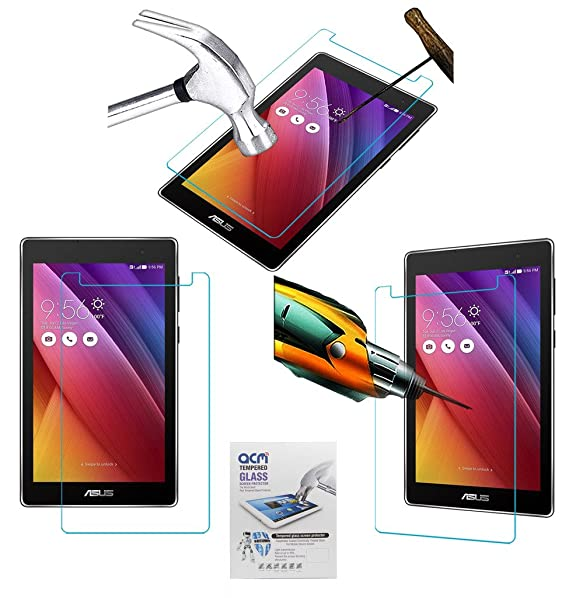 Acm Tempered Glass Screenguard for Asus Zenpad C 7.0 Z170cg Screen Guard Scratch Protector Touch Screen Tablet Screen Protectors