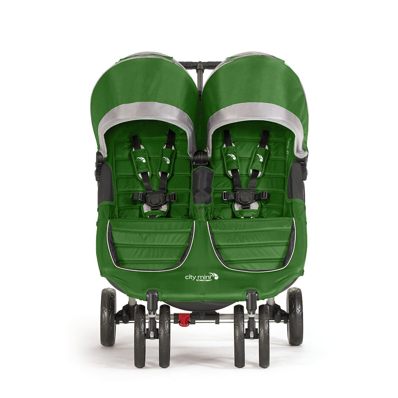 Baby Jogger City Mini Double Stroller, Evergreen Gray