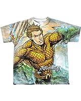 Sublimation Youth: Rough Seas Aquaman T-Shirt
