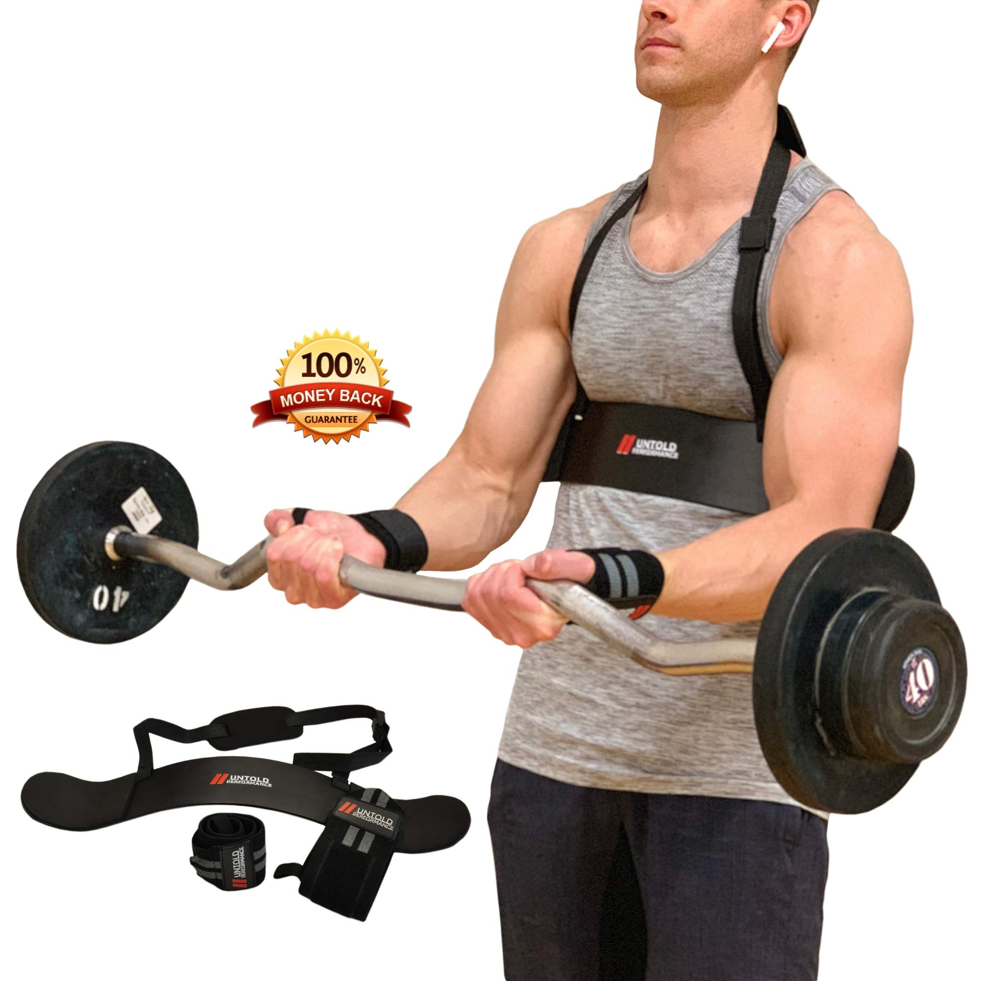 Arm Blaster For Bicep Curl Support With BONUS Wrist Wraps For Wrist Support | Arm Blaster Bicep Curl & Bicep Isolator For Weightlifting | Bicep Blaster Strong Arm Blaster For Biceps Arm Curl Blaster
