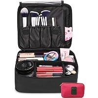DIMJ Neceser Maquillaje, Bolsa de Maquillaje Ligera con Divisores Bolsillos Profesional Organizador de Maquillaje Bolso…