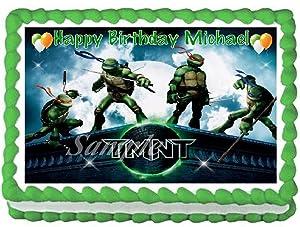 Teenage Mutant Ninja Turtles #1 Edible Frosting Sheet Cake Topper - 1/4 Sheet
