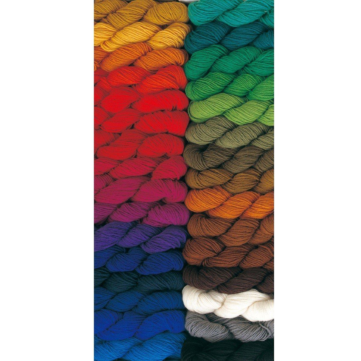 シャギー毛糸 全31色セット 紡毛糸ウール100% 3番3本取り B06XXCP45C