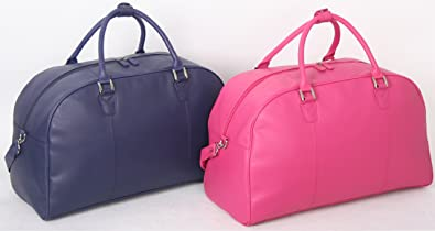 Ladies Genuine Leather Large Weekend Bag 50 Litre Travel Holdall ...